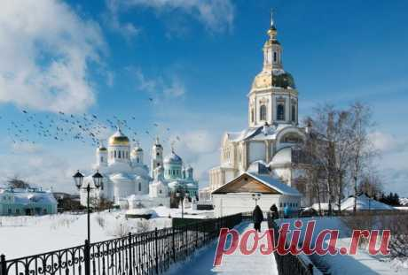 #дивеево #Канавка #фото  Вид на монастырь со Святой Канавки.