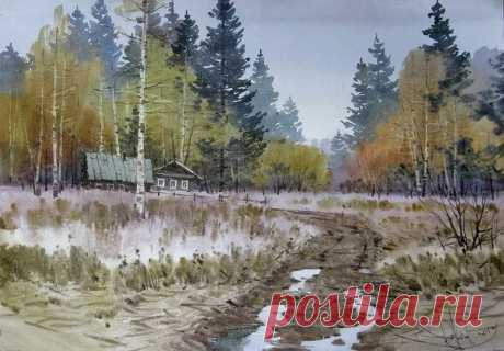 Акварельные пейзажи художника Ильи Горгоца | Журнал Ярмарки Мастеров