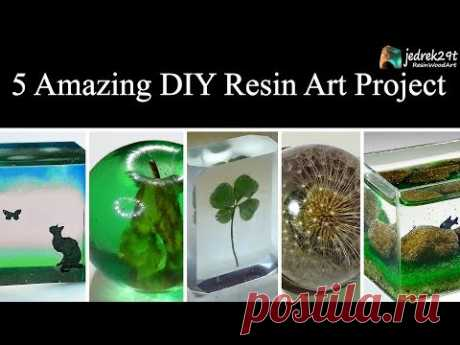 5 MOST Amazing DIY Ideas from Epoxy RESIN. SIMPLE Tutorial / ART RESIN