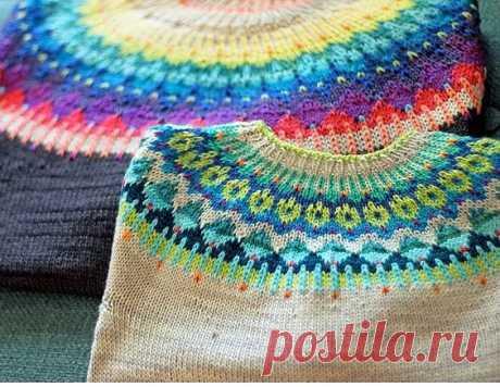 """Подборка красивых свитеров """"Лопапейса"""" и схемы к ним"""