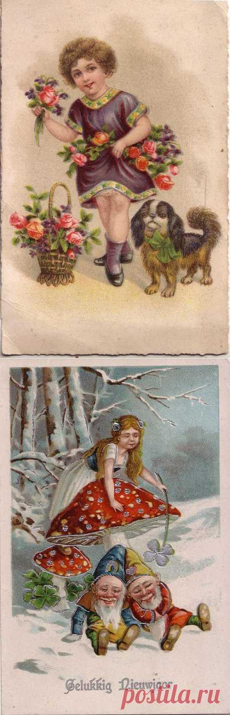 Винтажные открытки. .