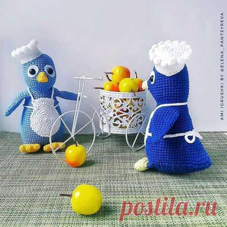 PDF Пингвинёнок поварёнок крючком. FREE crochet pattern; Аmigurumi animal patterns. Амигуруми схемы и описания на русском. Вязаные игрушки и поделки своими руками #amimore - пингвин, пингвинята, пингвинчик, пингвинёнок.