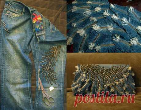Клатч из джинсов