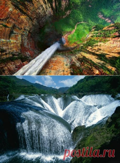 17 водопадов, впечатляющих своей высотой, красотой и мощью.