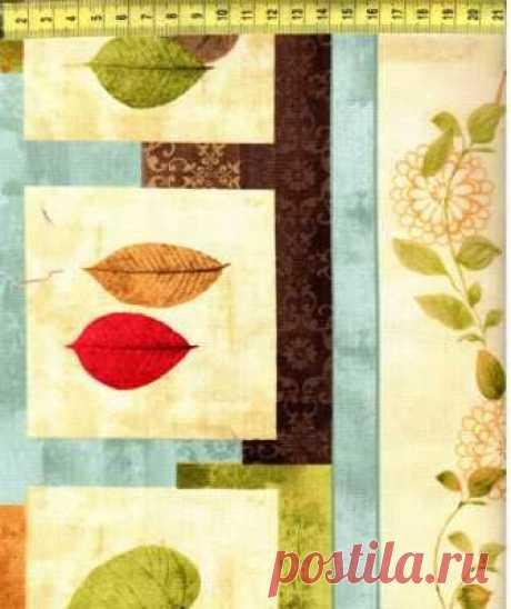 Широкие полосы с листьями 1810-124W - Листопад <- WILMINGTON PRINTS <- Ткани - Каталог | StitchCraft