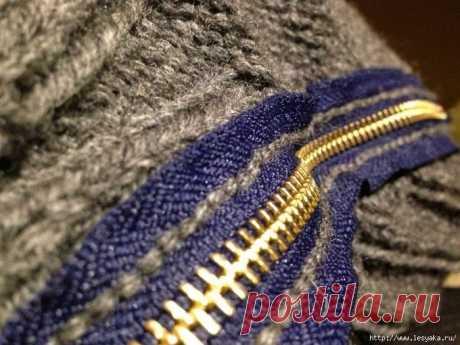 Как красиво и аккуратно вшить молнию в вязаное изделие. Безупречный способ!