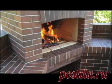Bricklaying of a street oven complex. Bricks and person. Brazier. Street furnaces. - YouTube