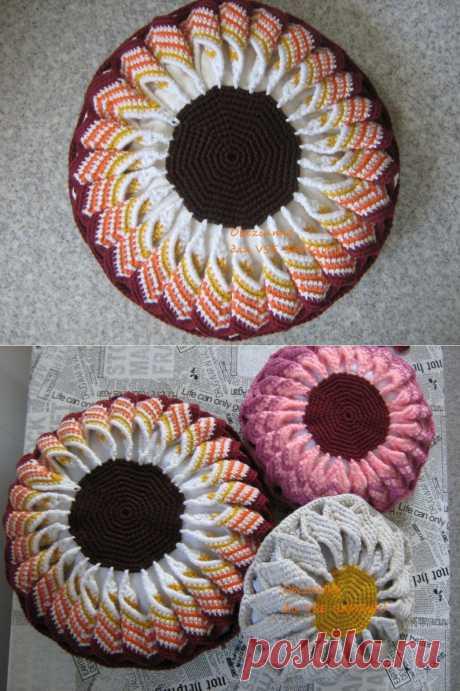 Декоративная подушечка-Цветок от Obezьяnka