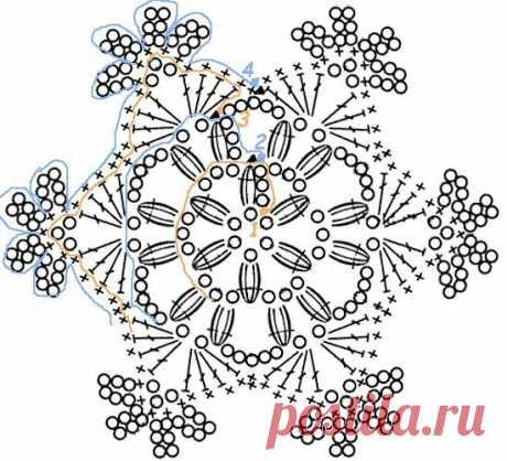 Подборка ажурных снежинок к новому году