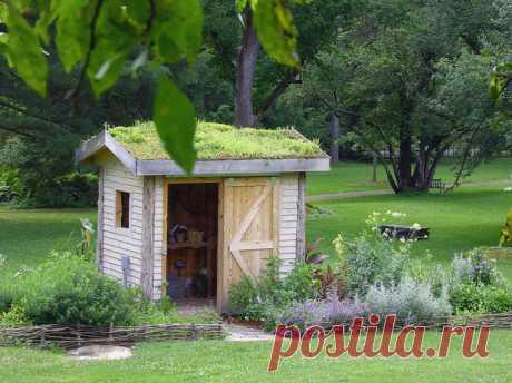 Не просто садовый сарай: оригинальные решения для оформления. Фото
