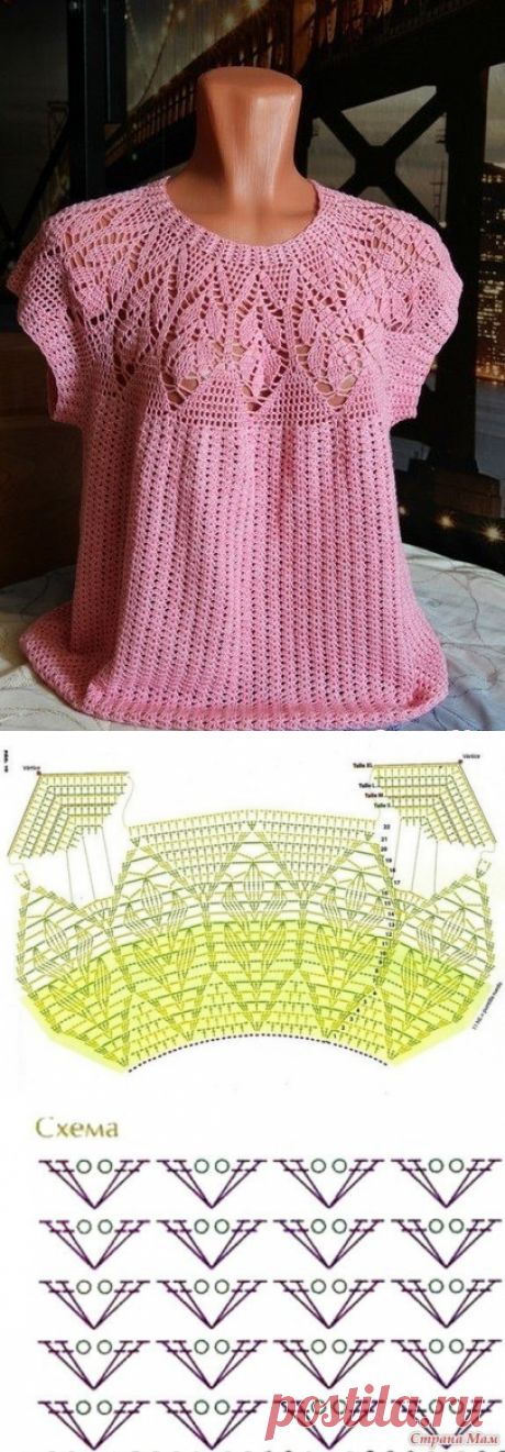 Розовая кофточка с ажурной кокеткой. Как связать кофточку с ажурной кокеткой |