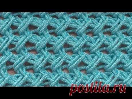 Примеры простого вязания - Пример проволочной сетки - YouTube