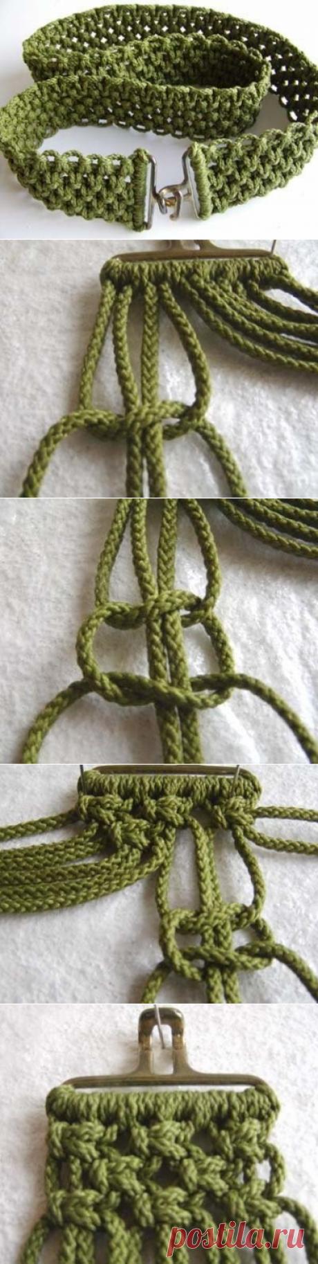 Пояс в технике макраме: схема плетения своими руками
