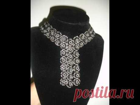 Handmade Jewelry: Elegant Black Trio Necklace Part 1 of  2
