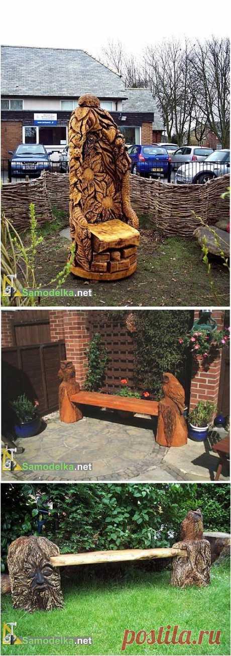 Резные скамейки из дерева фото / Cамоделки для дачи / Самоделка.net - Сделай сам своими руками | Самоделки. Полезные советы и рекомендации домашнему умельцу