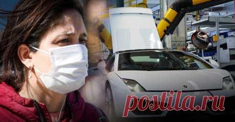 Lamborghini будет производить медицинские маски | Листай.ру ✪