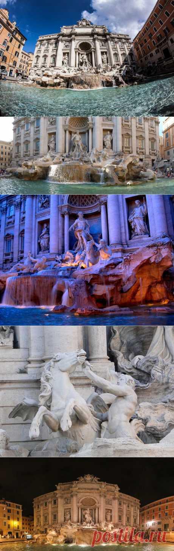 Фонтан Треви в Риме - место, где мечты становятся явью. Взглянуть на фонтан каждый день приходят сотни людей. Это стало своего рода туристической традицией – побывать у Треви. Но, честно сказать, днем там делать нечего. Близко к фонтану подобраться все - равно не удастся. Так что придется довольствоваться наблюдением красоты издалека, в то время как вокруг будут стоять десятки таких же туристов, пытающихся сфотографировать гордость Рима.