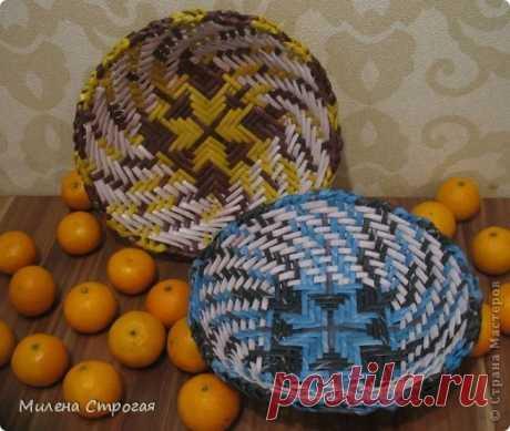 Газетное плетение - тарелки | Страна Мастеров