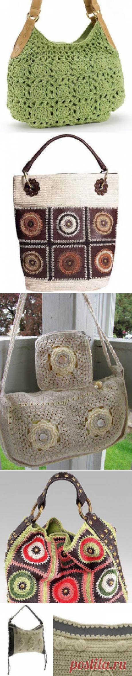 Crochetcetera и такой: какая женщина не любит сумки?Только идеи.