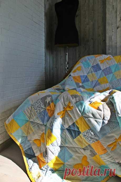Весеннее лоскутное одеяло с бабочками и стрекозами   Жизнь как чудо   Яндекс Дзен