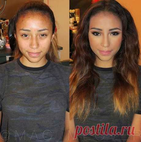 Wonderful transformations by means of a make-up (16 photos) | Oh, damn All makeup artists are sure that there are no ugly women, there are only those who are not able to watch the appearance. Faultlessly it is necessary to look fairly to try, having spent a lot of time and means, but the result is worth really it. Further we suggest to look to you at the wonderful transformations which happened thanks to cosmetics and skill of makeup artists.