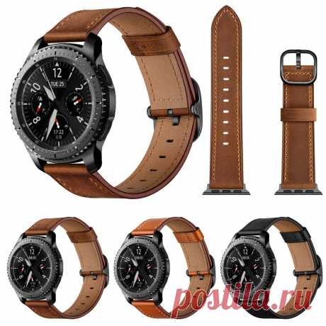 Bakeey 22mm 360 Genuine Leather Replacement Strap Smart Watch Band for Samsung G - US$13.99