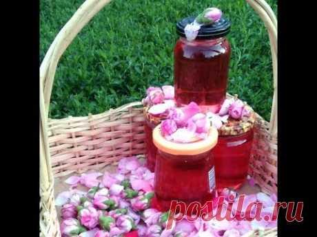 Розовый сироп. Сироп из лепестков чайной розы на зиму.