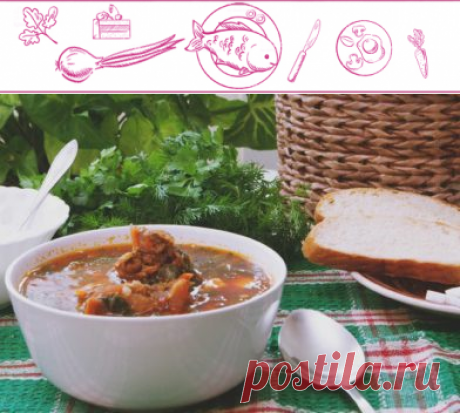Вкусный зеленый борщ со щавелем | Подробный рецепт с ВкусноСайт