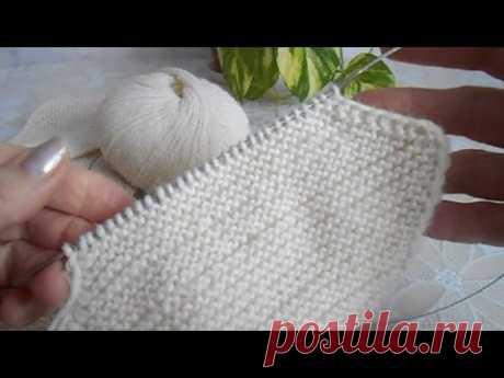 Как связать шарф для ребёнка спицами Вязание по косой