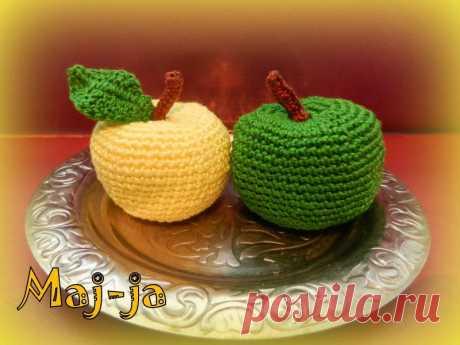 Вязаные фрукты: вязаное яблоко