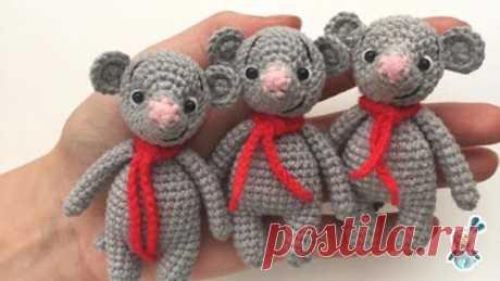 Вяжем мышек-амигуруми