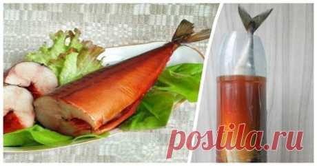 Засолка скумбрии в бутылке: рецепт домашней солонины   Иногда так хочется побаловать себя и близких ароматной копченой рыбкой, но магазинным продуктам веры нет — ведь столько сейчас некачественной и обработанной химией рыбы. На помощь придет простой способ холодного копчения, который заключается в использовании луковой шелухи и обычной пластиковой бутылки. Показать полностью…