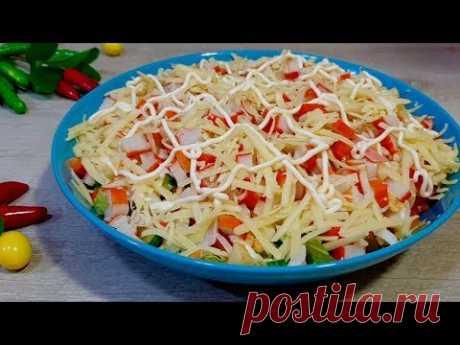 Рецепт этого салата выпросила в ресторане. Этот салат производит фурор на праздничном столе.