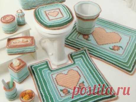 Коврики, вязаные крючком, в ванную и туалет своими руками: дизайн, схемы, описание