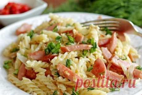 Вкуснейшие макароны с яйцом и колбасой: пошаговый рецепт приготовления