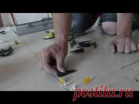 Как поступить если плитка горбатая, укладка крупноформатной плитки.