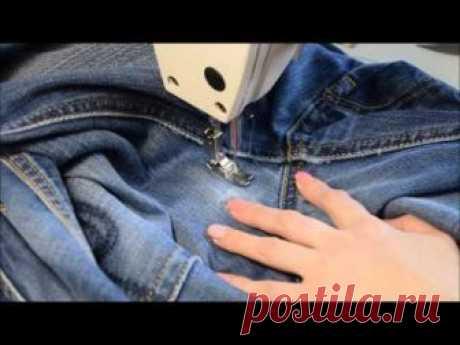 Учимся штопать джинсы на швейной машинке – Ярмарка Мастеров