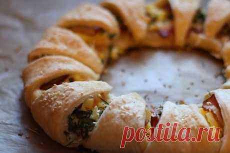«Веночек вкусностей» - утренний пирог