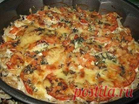Минтай запечённый с помидорами и сыром , готовится очень быстро 🍴