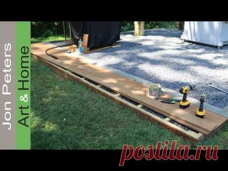 Build a small Deck - Outdoor Kitchen Project - YouTube