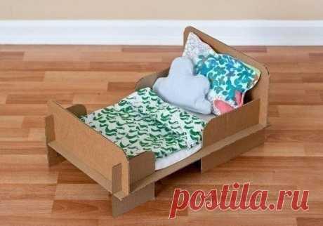 Кровать для куклы DIY