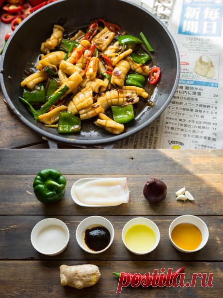 Азия пришла к вам! Кальмары с азиатским акцентом — Вкусные рецепты