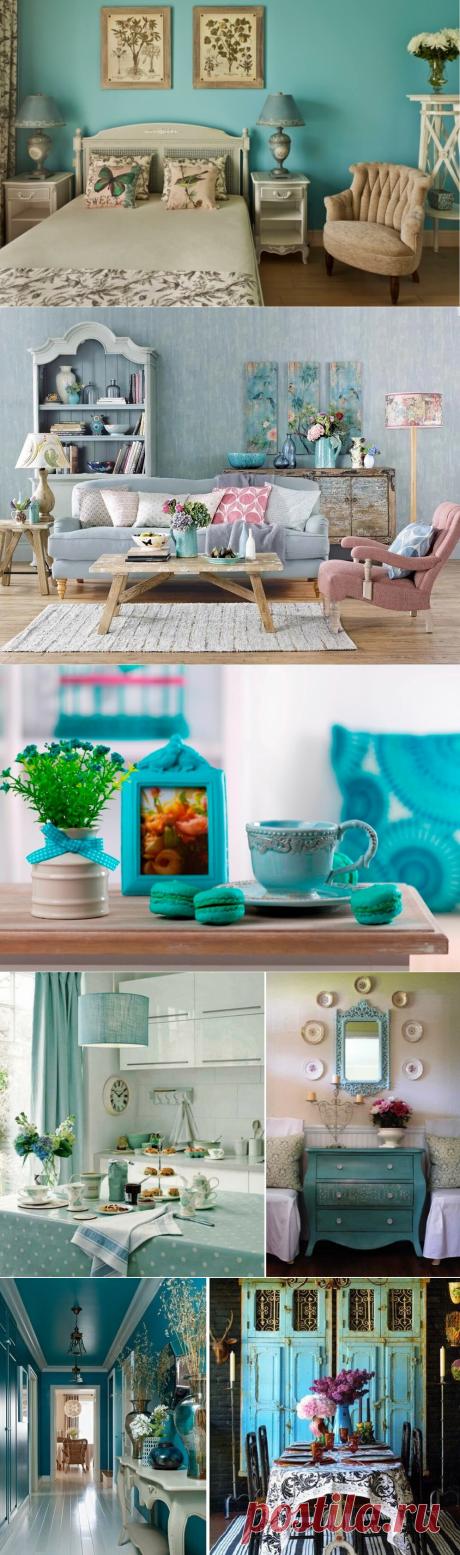 Бирюзовый цвет в интерьере: с чем сочетается, кому подойдет | Lavanda-decor | Яндекс Дзен
