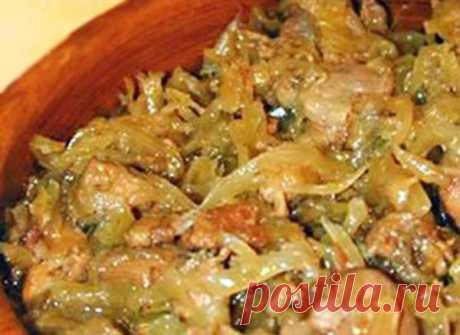 Вкуснейший бигос из свежей капусты с мясом. Только от одного вида захлебнешься слюной!
