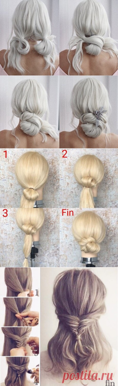 6 элегантных причесок в офис, пошаговая инструкция | Тиара - уход за волосами | Яндекс Дзен