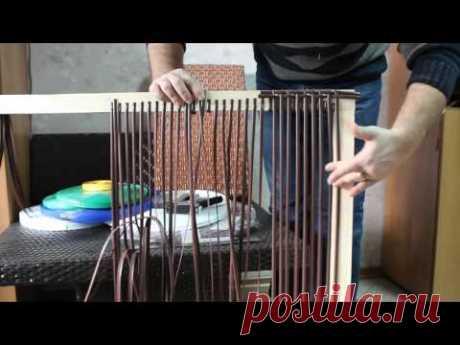Полиротанг. Плетение столешницы своими руками