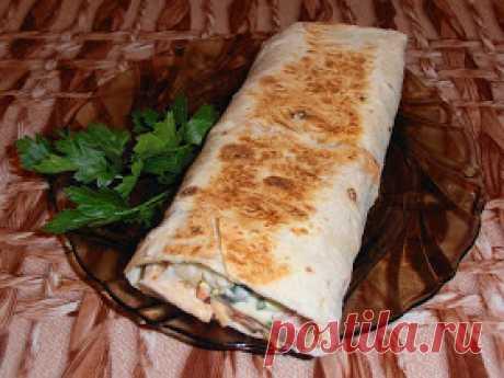 Самые вкусные рецепты: Шаурма с колбасой