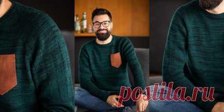 Простой мужской свитер So Basic - Вяжи.ру