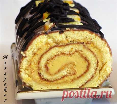 Бисквитный рулет с терпким чаем или все дело в мандарине пошаговый рецепт с фотографиями