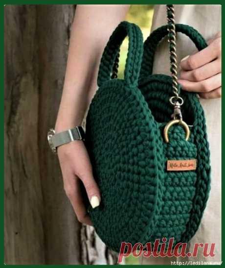 Простейший способ связать круглую сумку своими руками